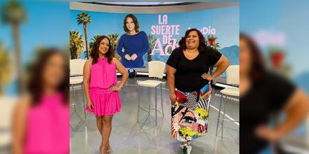 Adamari López y Gisella Aboumrad en el set de 'hoy Día'