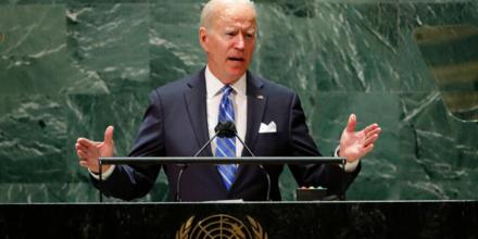 El presidente, Joe Biden, ante la ONU.