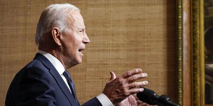 El presidente, Joe Biden, anuncia la retirada de las tropas estadounidenses de Afganistán desde la Casa Blanca, este 14 de abril de 2021.