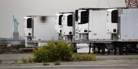 Camiones refrigerados en Nueva York