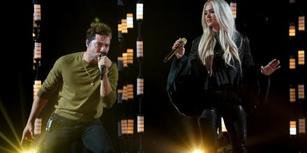 David Bisbal y Carrie Underwood en los ensayos de los Latin American Music Awards 2021