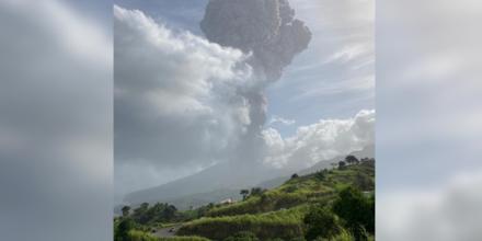 El volcán La Soufrière.