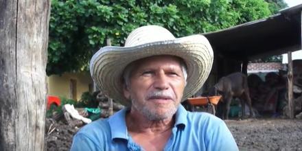 Gabriel Cazún, hombre que sobrevivió a la corriente de un río crecido en El Salvador