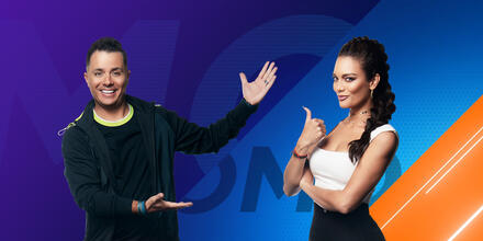 Karim Mendiburu y Zuleyka Rivera, conductores de 'El Domo del Dinero' de Telemundo