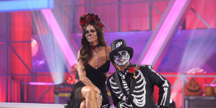 Karim Mendiburu y Zuleyka Rivera en el episodio 13 de 'El Domo del Dinero'