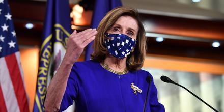 La líder demócrata en el Senado, Nancy Pelosi