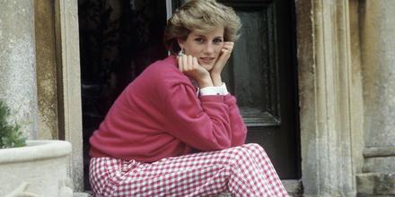 Princesa Diana sentada