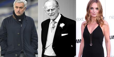 José Mourinho, príncipe Philip y Geri Halliwell