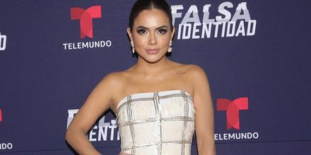 """Samadhi Zendejas en el estreno de la serie de Telemundo """"Falsa Identidad"""" en México, 2018"""