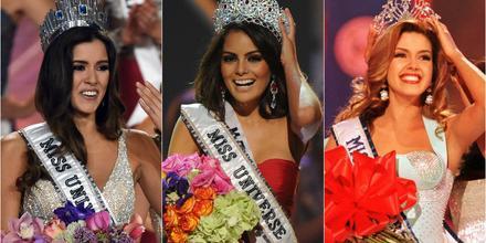 Paulina Vega  Miss Universe 2014, Ximena Navarrete Miss Universe 2010, Alicia Machado Miss Universe 1996