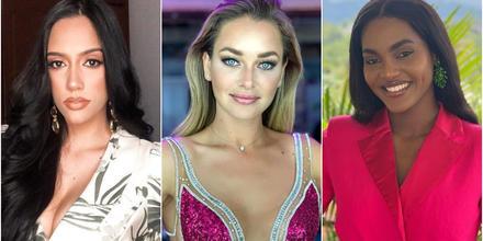 Cecilia Rossell Miss Honduras, Daniela Nicolás Miss Chile y Eden Berandoive Miss Haití