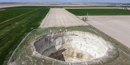 Aparecen agujeros en zonas agrícolas de Turquía