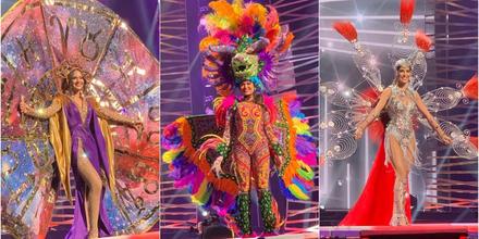 candidatas latinas a Miss Universo 2021, 69na. edición desfile traje típico