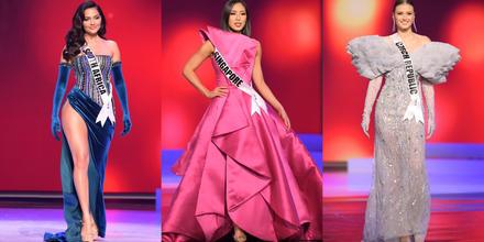 candidatas a Miss Universo 2021, 69na. edición desfile traje de gala arriesgado