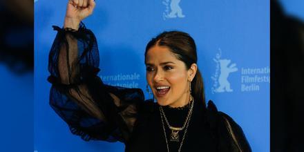Salma Hayek en el Festival Internacional de Cine de la Berlinale 2020.