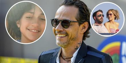 Marc Anthony con su hija Emme, Jennifer Lopez y Ben Affleck en Europa.