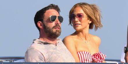 Ben Affleck y Jennifer Lopez en Amalfi, Italia