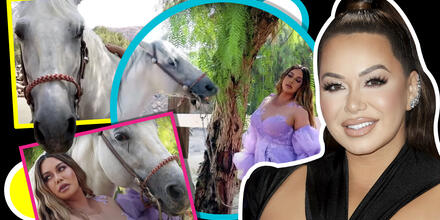 Chiquis Rivera, con sensuales poses, dice que terminó excitando a un caballo