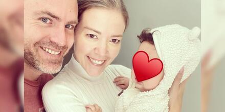 Fernanda Castillo y Erik Hayser muy amorosos con su bebé