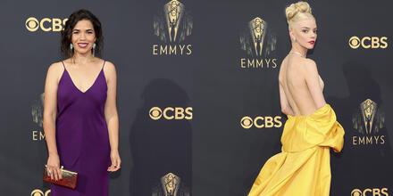 America Ferrerta y Anya Taylor Joy en Emmy Awards 2021.