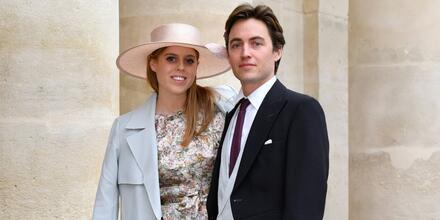La princesa Beatrice con Edoardo Mapelli Mozzi, París, Francia, 2019