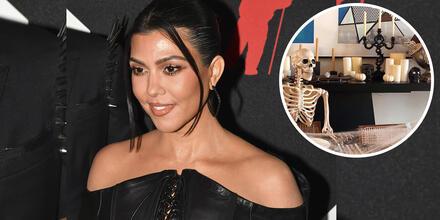 Kourtney Kardashian y la decoración de Halloween de su mansión.