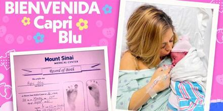 Stephanie Himonidis y su bebé Capri Blu