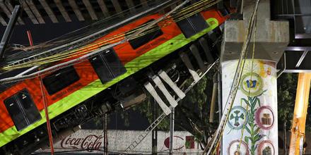 La línea 12 del metro de Ciudad de México colapsó la noche del 4 de mayo de 2021.