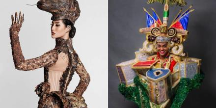 Miss Indonesia, Miss Haití, candidatas a Miss Universe 69na. edición con sus trajes típicos