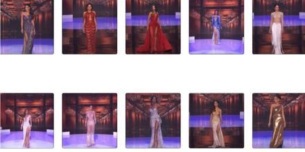 Candidatas a Miss Universo 2021 69na edición, 10 finalistas en desfile con vestidos de gala