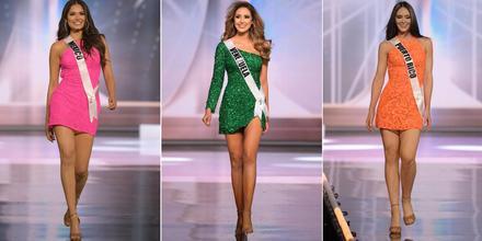 Miss México, Andrea Meza; Miss Venezuela, Mariangel Villasmil; Miss Puerto Rico, Estefanía Soto Torres; candidatas latinas a Miss Universo 69na. edición