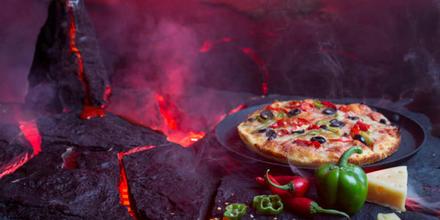 Pizza volcán Pacaya