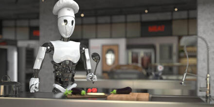 Robot chef BR5 cocina paella