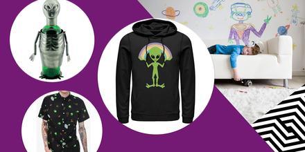 Prendas y accesorios de aliens y UFOs que querrás tener