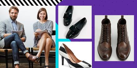 Zapatos para hombre y mujer ideales para usar en la oficina