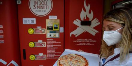 Máquinas expendedoras de pizzas