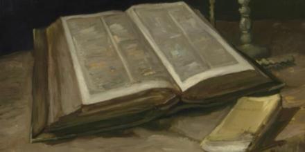 Dibujo escondido en libro Van Gogh