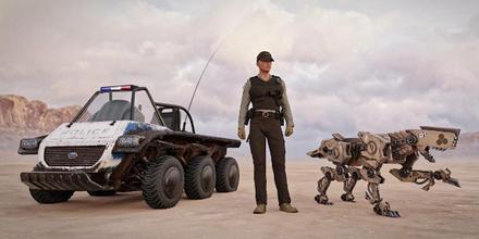 Perros policía robots