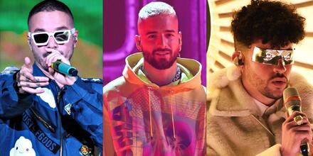 J Balvin, Maluma y Bad Bunny