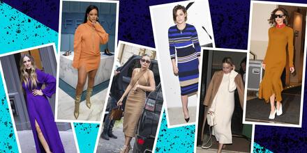 Los vestidos tejidos que las celebs aman usar todo el año | Telemundo