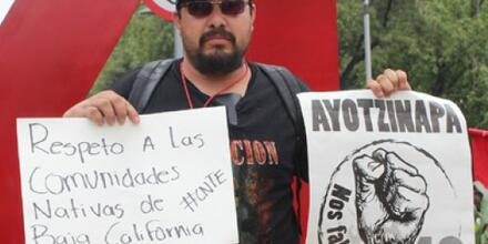 Oscar Eyraud Adams, activista mexicano y líder indígena que fue ejecutado el 24 de septiembre de 2020 en Tecate, Baja California.