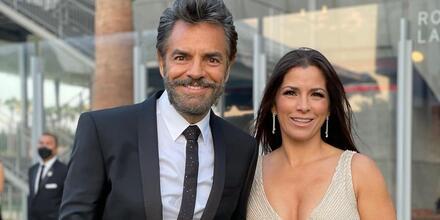 Eugenio Derbez y Alessandra Rosaldo en la inauguración del Museo de la Academia en Hollywood