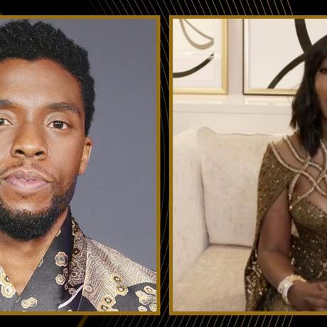 Chadwick Boseman en los Golden Globe Awards 2021