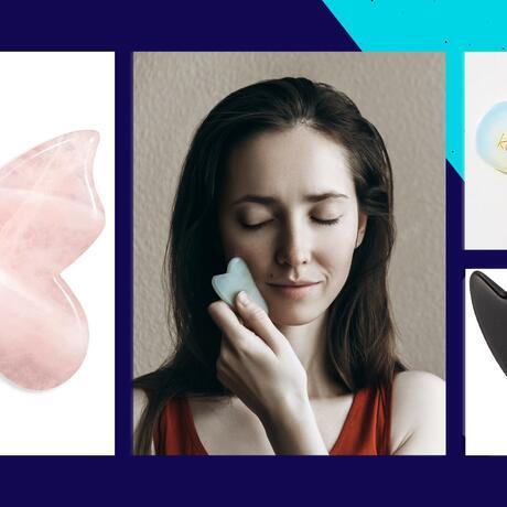Gua Sha para masaje facial linfático