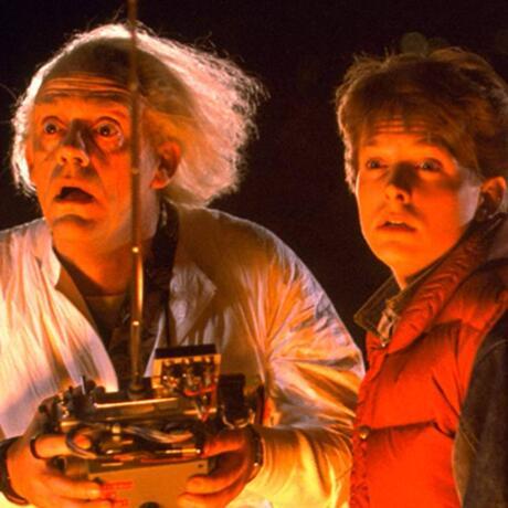 Michael J. Fox con Christopher Lloyd Back to the Future