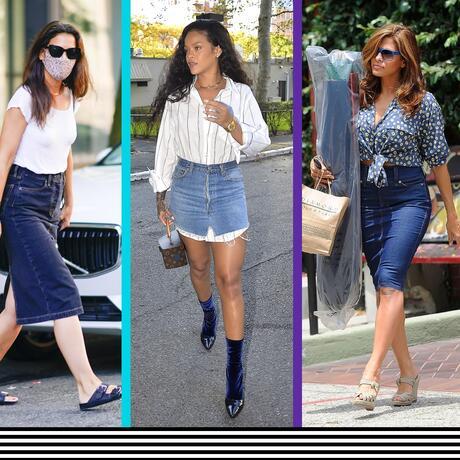Faldas de mezclilla que llevan las estrellas de Hollywood | Telemundo