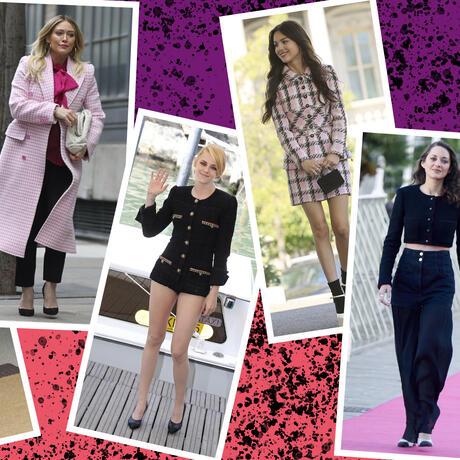 Tweed: el tejido de antaño que las celebs regresan a la moda | Telemundo