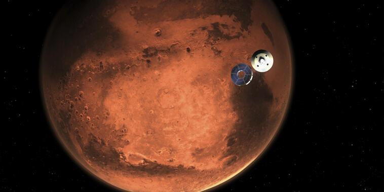 Ilustración del robot Perseverance facilitada por NASA.