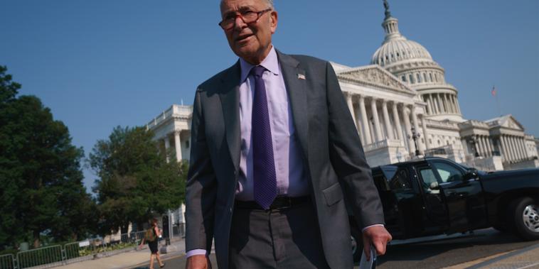 El líder de la mayoría del Senado, Chuck Schumer