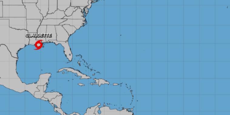La tormenta tropical Claudette.
